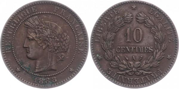 Frankreich 10 centimès 1888 A Kursmünze