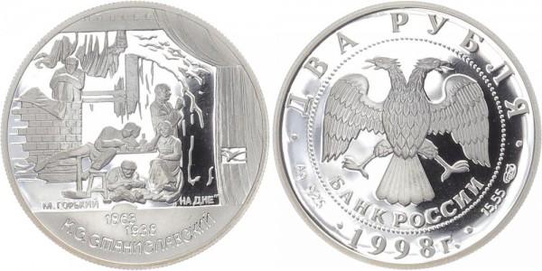Russland 2 Rubel 1998 - Stanislavskij, Maxim Gorki