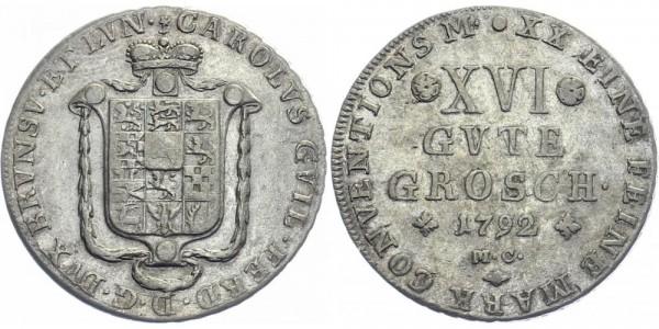 Braunschweig-Wolfenbüttel 16 Gute Groschen 1792 - Kursmünze