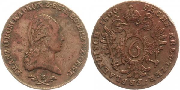 Österreich 6 Kreuzer 1800 B Kursmünze