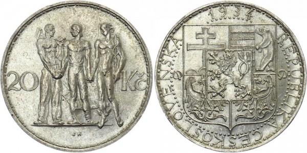 Tschechei 20 Kč 1934 - Herkules Gruppe