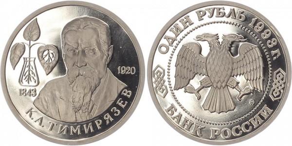 Russland 1 Rubel 1993 - Kliment A. Timirjasev
