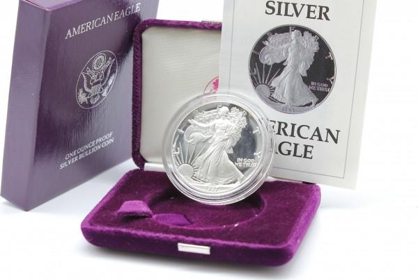 USA 1 Dollar 1987 S 1 Oz. American Eagle PP