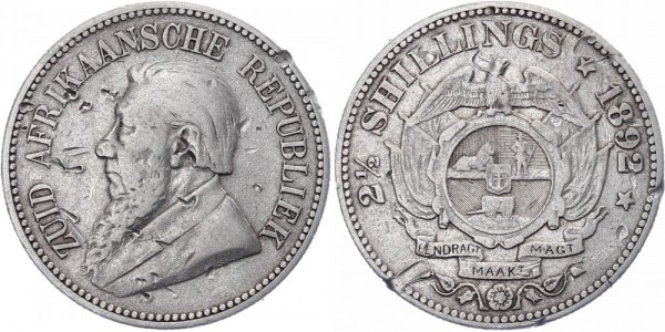 Südafrika 2½ Shilling 1892 - Kursmünze