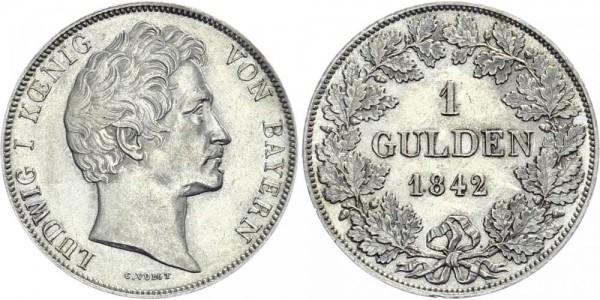 BAYERN 1 Gulden 1842 - Ludwig I.