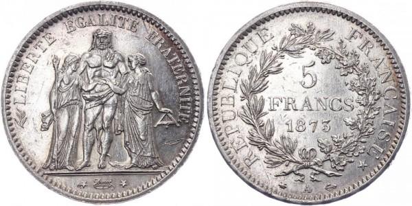 Frankreich 5 Francs 1873 - Kursmünze
