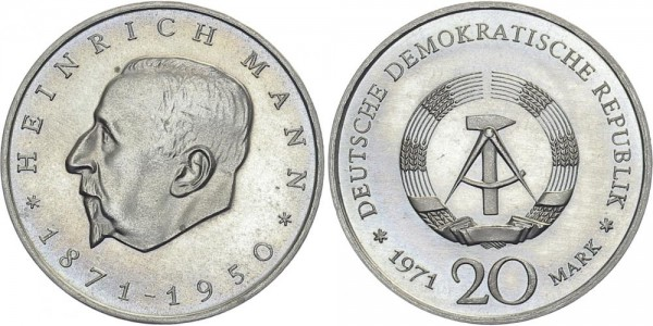 DDR 20 Mark 1971 A Heinrich Mann