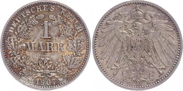 Kaiserreich 1 Mark 1907 E Kursmünze