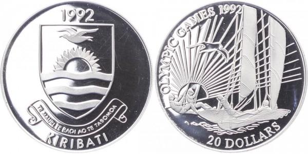 Kiribati 20 Dollar 1992 - Olympische Spiele 1992