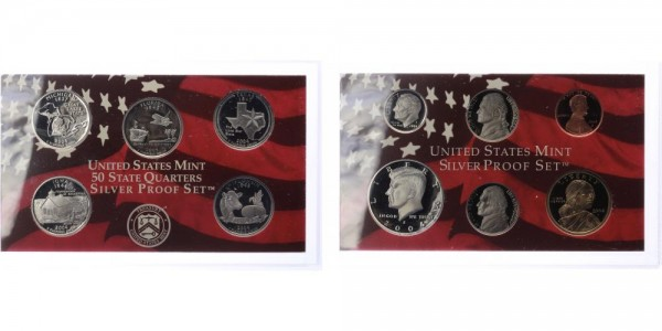 USA 1c-1 Dollar 2004 - Proof Set