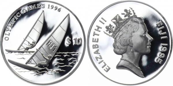 FIDSCHI 10 Dollars 1995 - Olympische Spiele
