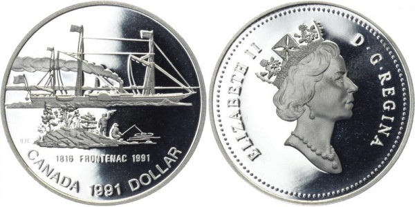 KANADA 1 Dollar 1991 - Frontenac