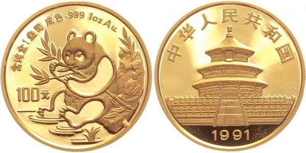 China 100 Yuan (1 Oz) 1991 - Panda