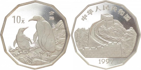 China 10 Yuan 1997 - Pinguine