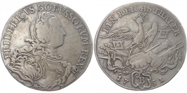 Brandenburg-Preussen Reichstaler 1751 B Friedrich II. der Grosse 1740-1786