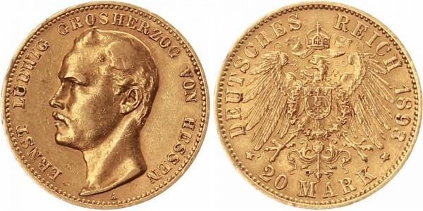 Hessen 20 Mark 1893 - Ernst Ludwig