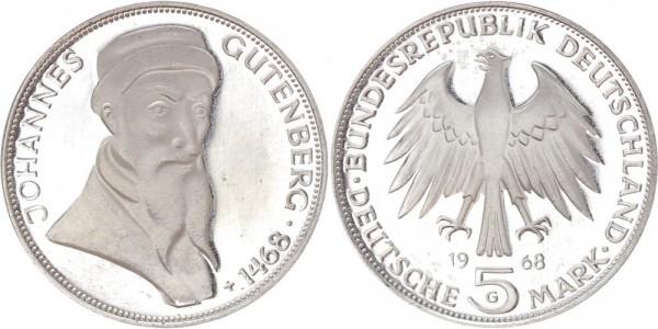 BRD 5 Mark 1968 - Gutenberg
