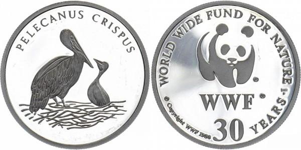 WWF Medaille 1986 - Krauskopfpelikan