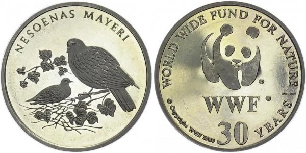 WWF Medaille 1986 - Rosentaube
