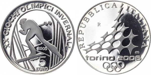 Italien 5 Euro 2005 - Skilaufen
