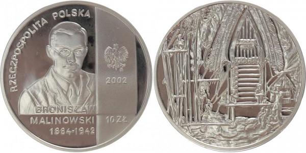 Polen 10 Zloty 2002 - Ethnologe Malinowski
