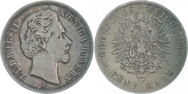Bayern 5 Mark 1875 - Ludwig II.
