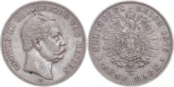 Hessen 5 Mark 1875 - Ludwig III.