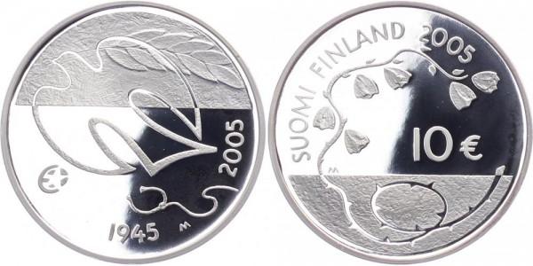 Finnland 10 Euro 2005 - 60 Jahre Friede und Freiheit in Europa