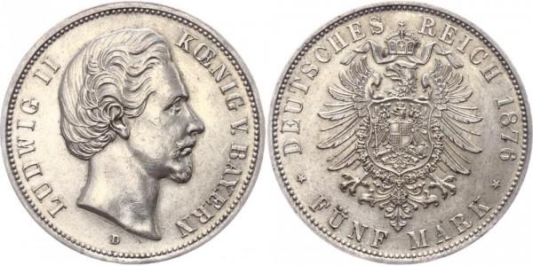 Bayern 5 Mark 1876 - Ludwig II.