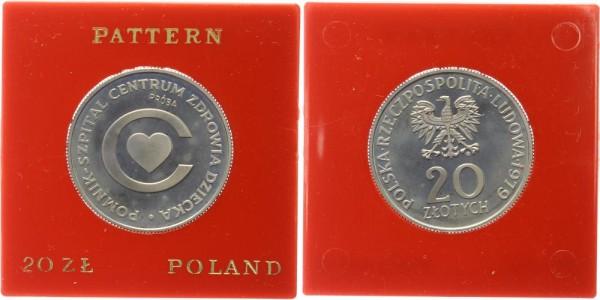 Polen 20 Zlotych 1979 Probe Kindergesundheitszentrum / Centrum Zdrowia Dziecka