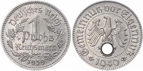 Drittes Reich 1 Reichsmark 1939 - Probe