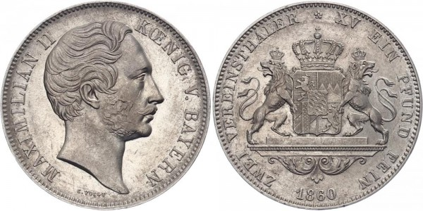 Bayern Doppeltaler 1860 - Maximilian II.