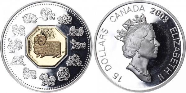 Kanada 15 Dollars 2003 - Jahr des Widder