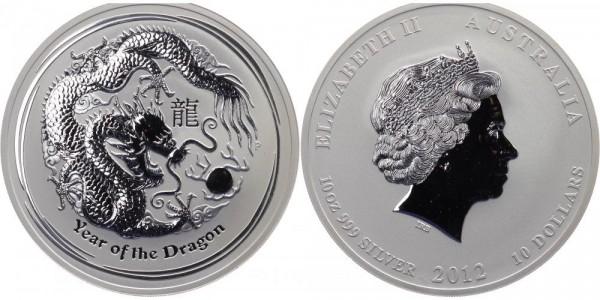 Australien 10 Dollar 2012 - Jahr des Drachen