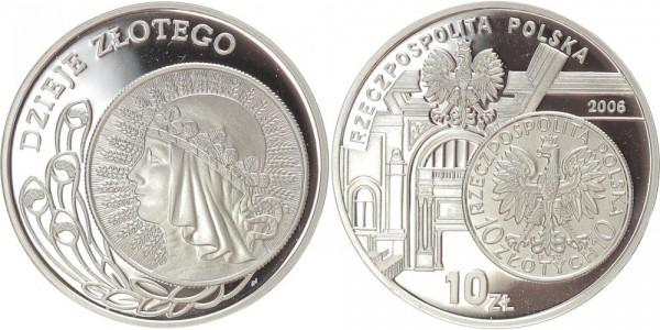 Polen 10 Zloty 2006 - Geschichte des Zloty