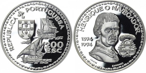 PORTUGAL 200 ESC 1992 - Henrique o Navegador