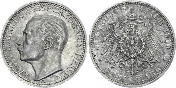 HESSEN 3 Mark 1910 A Ernst Ludwig