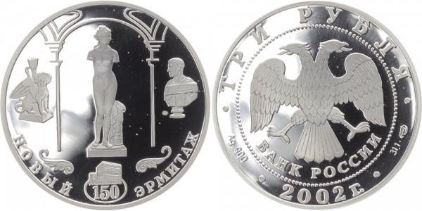 Russland 3 Rubel 2002 - Neue Eremitage - Venus