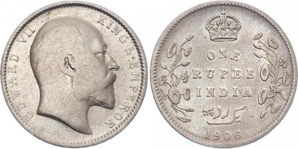 Britisch-Indien 1 Rupie 1906 - Edward VII.