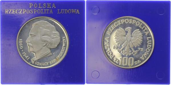 Polen 100 Zlotych 1975 - Ignacy Jan Paderewski
