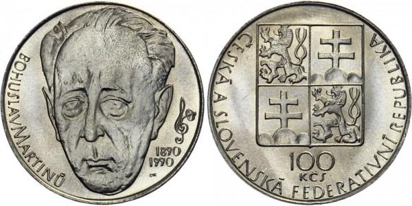 CSFR 100 Kč 1990 - Bohuslav Martinu