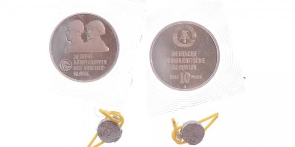 DDR 10 Mark 1983 - 30 Jahre Kampfgruppen