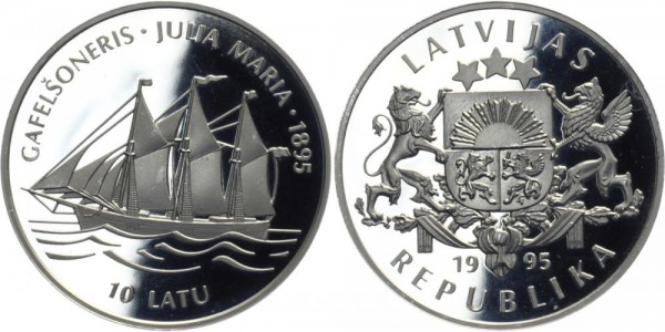 LETTLAND 10 Latu 1995 - Gafelsoneris Julia Maria