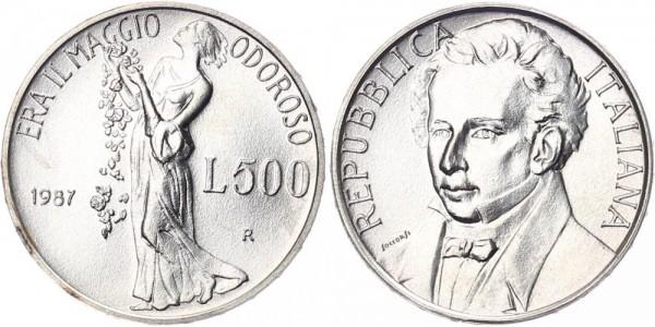 Italien 500 Lire 1986 - Giacomo Leopardi
