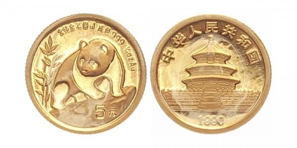 China 5 Yuan (1/20 Oz) 1990 - Panda