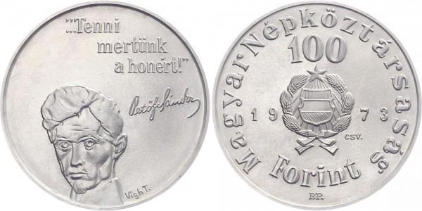 Ungarn 100 Forint 1973 Budapest 150. Geburtstag Sandor Petofi
