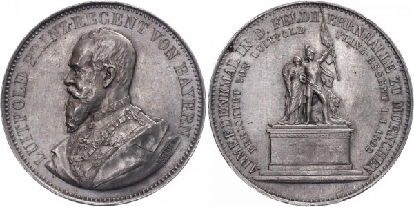 Bayern Medaille 1892 - Armeedenkmal in d. Feldherrnhalle