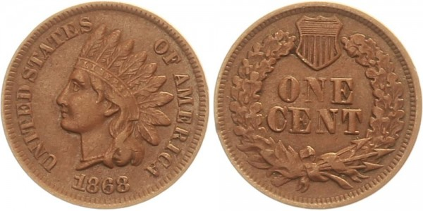 USA 1 Cent 1868
