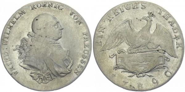 BRANDENBURG 1 Reichstaler 1790 B Kursmünze