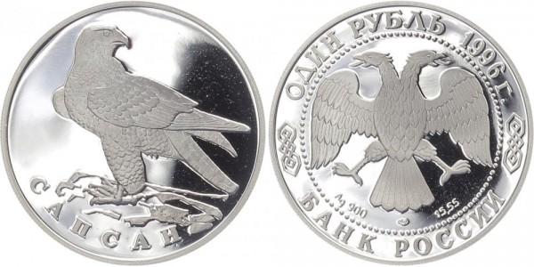 Russland 1 Rubel 1996 - Wanderfalke